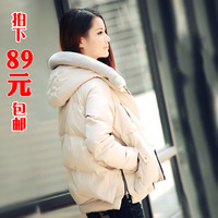Down coat female short design thickening down coat female winter tooling down coat