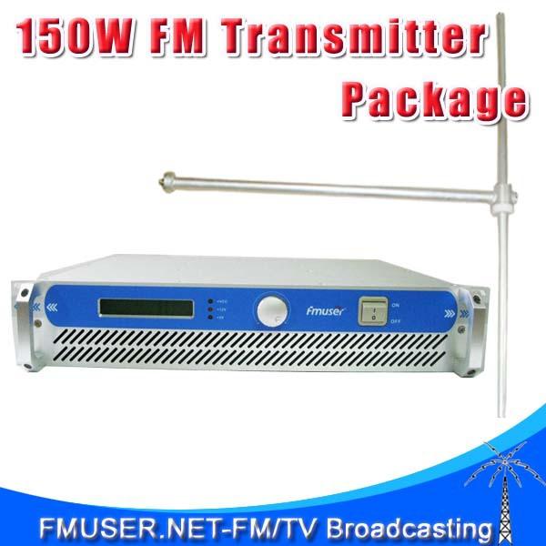 FMUSER FSN-150 150W FM Radio Transmitter + FU-DV1 FM Dipole Antenna + 20m SYV-50-7 Cable Package for FM Radio Station(China (Mainland))