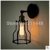 Wall Lamp American Village Restaurant Bar Industrial Retro Creative Personality Iron Wall Lamp Bronze Wall Light