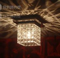 Lamp fashion bar single head led ceiling light square crystal lamp