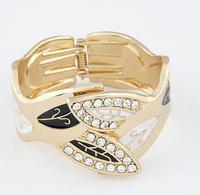 OU4008 2015 Fashion Chunky Luxury Dubai Druzy Leaf Cuff Women Bracelet,Hot New Trending,Party ,Big Event Bangles