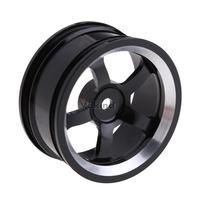V1NF Aluminum 5-spoke Black Machined Wheel Rim for 1:10 RC On-Road Racing Car