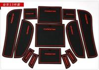 Free Shipping! 2009 2010 2011 2012 Subaru Forester Gate Slot Pad Door Slot Cushion Tank Gasket Non-Slip Cup Mat/Pads,13pcs/set y
