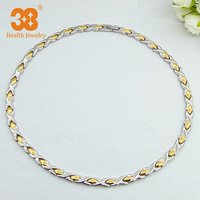 2014 Necklace Cheap Statement Long Silver-gold Magnetic Necklace
