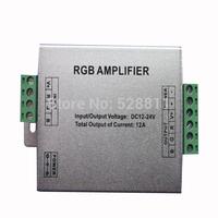 5pcs / lot Free shipping rgb amplifier led controller 12v/24v extending the signal 144w 3528 or 5050 rgb led strips light