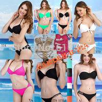 New Arrival Fashion Blue Series Embrace Ocean Push UP 8 Style Padded Bikini Swimwear Bathers Sexy Hot Summer Beachwear Wholesale