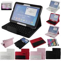 Galaxy Tab 4 10.1 Keyboard Case,Bluetooth Keyboard Case Cover For Samsung Galaxy Tab 4 10.1 T530 Tablet + Free Stylus&Film