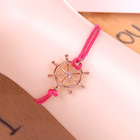 ( Min order is $5 !!!) 2014 Newest infinity charm bracelet  multicolor woven leather bracelet & Bangle for women free shipping