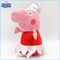 30cm peppa pig Movie Plush Toy George Peppa Pig Family Toys Keychain plush toy dolls gift free shipping