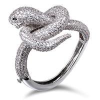 latest 2014 snake shape full zirconia bangle bracelet top quality christmas gift.