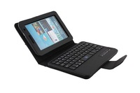 2014 new Bluetooth Keyboard+ PU Leather Case ABS removable keyboard for samsung Galaxy Tab P6200 P3100 free shipment