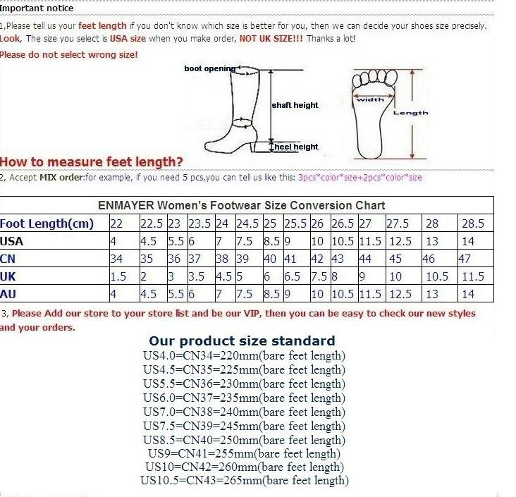 enmayer новый раунд 2015 носок колено высокие сапоги, сексуальная мода высокой пятки сапоги для женщин сексуальная платформа женщин длинные сапоги размер 34-39