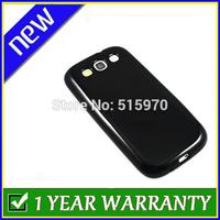 Soft Flexible TPU Gel Skin Case for Samsung i9300 Galaxy S3 - Black