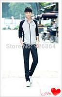 2014 men's sports suit sweater Korean couple models sportswear leisure suit, Ms. Slim