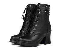 Free shipping, Women's Boots  ,Genuine Leather Boots Rivets Ankle Boots,Martens Boots,Hot sale