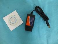 2014 wholesells ELM 327 V1.5 usb OBD/OBDII Scanner ELM327 interface elm327 usb scanner can bus
