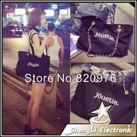 2014 New Fashion Handbag Chain Tide Female Bag Women Shoulder Packet Lady Korean Letter Canvas Bags