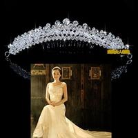 Bling  Pav setting Crystal Rhinestone Bride Wedding Dress Jewelry Hair accessory  hair Crown crystal Headband Hair Pin