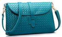 2014 new woven fashion genuine leather bags for women sweet knitted grain designer crossbody handbag