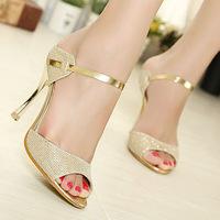 Fashion 9cm high heel sandals for women summer shoes woman EU 35-39