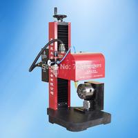 bench pneuamtic rotary dot peen marking machine,pneuamtic dot pin marking device with rotary clamp for round surface marking