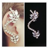 Min order is $10(mix order)2014 new arrived Retro Curve keel leaves earrings ear hook fashion women earrings