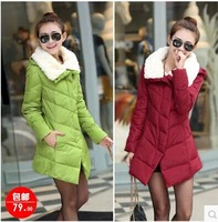 2014 women's slim wadded jacket winter outerwear female cotton-padded jacket down female short design medium-long small