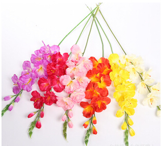 Yellow white orchid cloth flowers artificial flowers wholesale hot sale new format European style special price wholesale(China (Mainland))