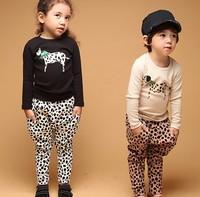 Autumn Children Clothing Suit Boy's Homewear Sets %100 Pure Cotton Cartoon Spotty Dog Tshirt+ Harem Pants 2pcs Kids Set GX933