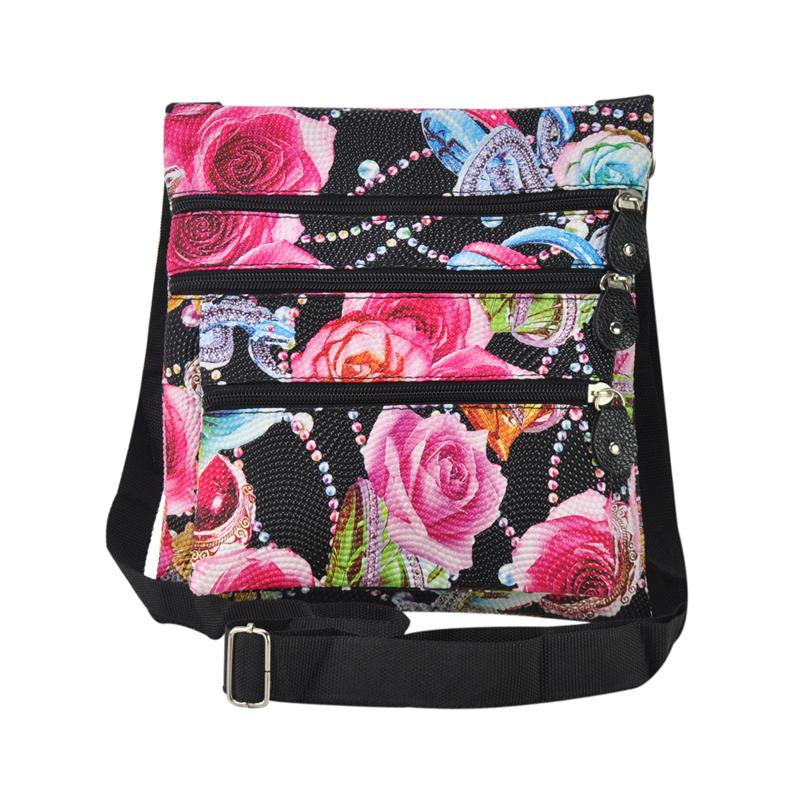 AliExpress.com Product - Brazil Style Bolsas Femininas 2014 Flower Printing Women PU Leather Messenger Bag Women Shoulder Bags(black,purple ) AJ0423
