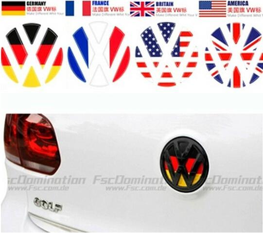 Volkswagen golf 6/polo/Tiguan/CC Lavida Modified Taril Trunk Emblem,steering wheel,Wheel hub,German flag,German flag car sticker(China (Mainland))