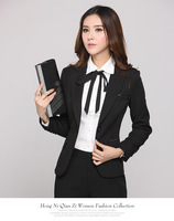 New Arrival 2014 Women's Seasonless Wool Long-sleeved Two Buttons Customized Business Suits w012 suit