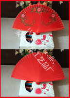 Free shipping 120pcs/lot Hand-painted Spanish hand fan wood craft with assorted flower designs & colros assorted as gift favor