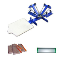 4 Color 1 Station Screen Printing Machine With Some Materials