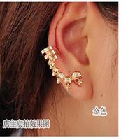 #274 Fashion Personality Gold Plated Rhinestone Setting Skeleton Ear Cuff Earrings 2014 New Women Jewelry 24PCS/LOT