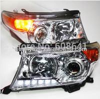 2008-2013 year Land Cruiser LC200 FJ200 LED Head Lamp Chrome  housing