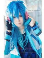 New DRAMAticalMurder/DMMd  Seragaki Aoba  Blue gradient COS wig Animation Product  Free Shipping