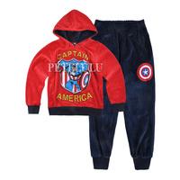 New 2014 autumn winter Children hoodies Cartoon Set fashion baby boys Sweatshirts+pant suit kids sports tracksuit 2 pcs Clothing