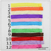 Wholesale 1.5cm Baby Headband Toddler Infant Crochet Headbands,Children Hair Bows,Baby Hair Accessories,FS252+Free shipping