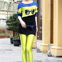3c Size S M L XL 2014 Bright Candy Color Fashion Sports Pants Women Full Length Active Pencil Pants Women Elastic Waist c3