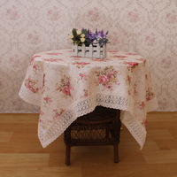 Flower table cloth fashion fabric square circle refrigerator towel microwave oven bedside cabinet gremial multi-purpose towel