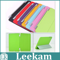 Ultra Thin Magnetic with Stand PU Leather case for iPad Mini Retina Smart Cover PU Front Plastic Back Cover free shipping