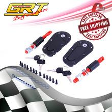 GRT - FREE SHIPPING D1 Generation Aerocatch Hood Lock Sanko BLACK Flush Bonnet Pins Kit(China (Mainland))