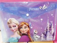 Free Shipping 240pcs/Lot 2014 Fashion Frozen Princess A4 Paper Dodument Bag Cartoon Student Folder G4035  Wholesale