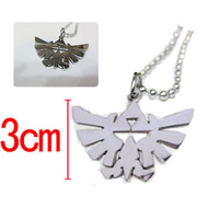 180pcs/lot Anime Game The Legend of Zelda high quality Pendant Necklace and Keychains Cosplay Metal Necklace Key Chains