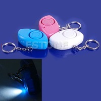 Mini Personal 120dB Security Siren Alarm Light Keychain  free shipping
