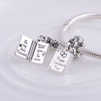 LW363 mental Happy Valentine's day 925 Sterling Silver Charms 1:1 Original Thread Beads Compatible With Fine Pandora Bracelet
