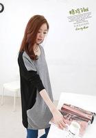 free shipping ! ladies' spring long sleeve T shirt girl's Korean design big size clothing female cotton loose batwing tops