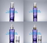 EPF capacity 100ml transparent purple glass bottle,lotion bottle,cosmetic bottle, cosmetic Packaging,glass bottle