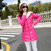 2014 winter women fashion down jacket feather dress,warm female Cotton padded clothes latest fur Hat  jacket girls long coat
